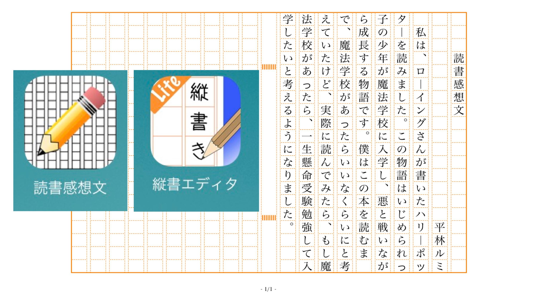 読書感想文の書き方(実践編) | 平林ルミのテクノロジーノート ALT