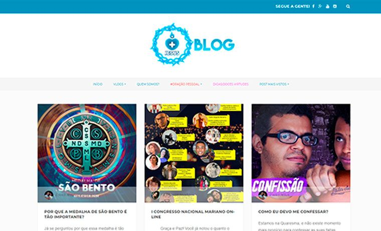 mais jesus, blogs catolicos