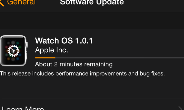 Apple Watch OS 1.0.1 Released
