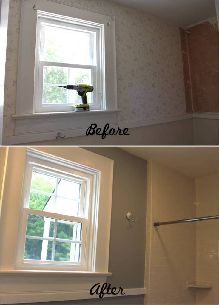 Falling Water House Wallpaper Bathroom Reveal Turning A Ugly Half Bath Into A Charming