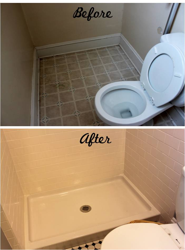 Bathroom Reveal Turning a ugly halfbath into a charming