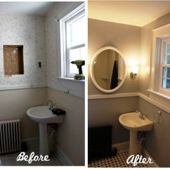 Round Kitchen Sink Modern Island For Sale Bathroom Reveal! Turning A Ugly Half-bath Into Charming ...