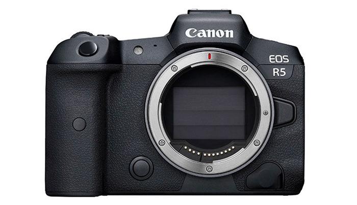 Canon EOS R5 - Depan