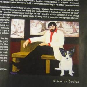 """Artist: George Rodrigue """"Blue Dog Speaks"""""""