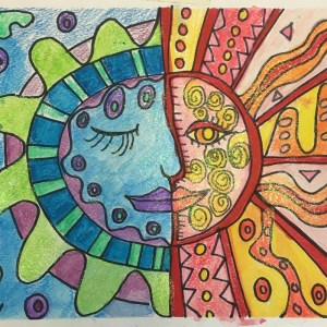 Mexican Sun and Moon – Warm/Cool Color Project