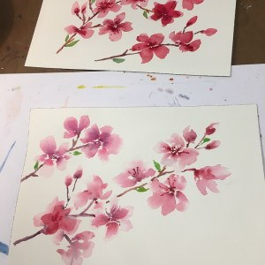 Cherry Tree Blossom Watercolor Project with MaryLeah Marshall