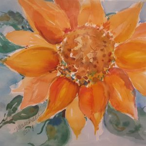 Sunflower Watercolor Project with MaryLeah