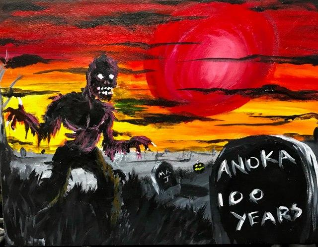 Anoka Halloween 100th Anniversary Acrylic Painting