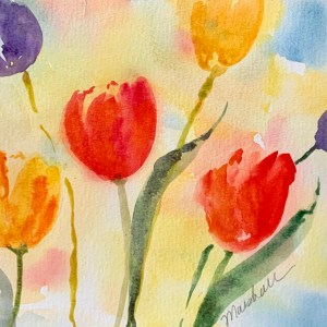 Tulips Watercolor Project