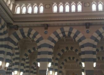 Arches inside Al-Masjid An-Nabawi