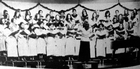 RFH Tower Singers entertain at the annual winter concert circa 1976. Photo/RFH yearbook screenshot