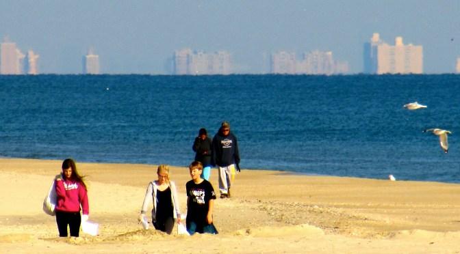 Reflection of a Sunny Beach Sweep
