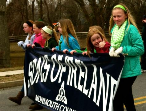 The first Rumson St. Patrick's Day Parade in 2013. Photo/Elaine Van Develde