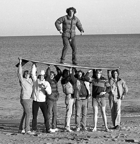 The RFH surfing guys of the 1970s Photo/George Day