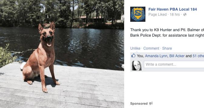 Fair Haven PBA Kudos to a Red Bank K9