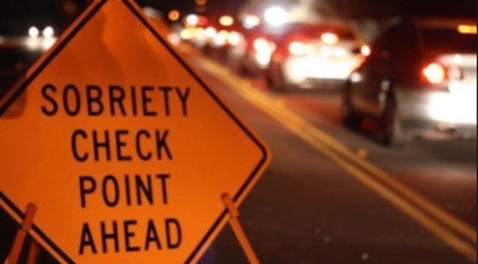 Caution: DWI Checkpoint in Monmouth