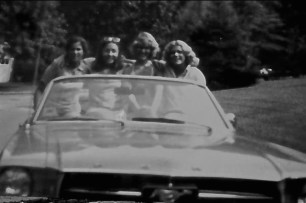 RFH girls' ride into the summer of '78 ... Stephanie DeSesa, Elaine Van Develde, Debbie Humbert and Daryl Cooper Ley Photo/Elaine Van Develde