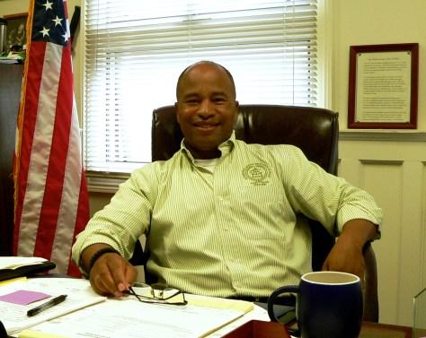 A day at the office for retiring Chief Darryl Breckenridge Photo/Elaine Van Develde