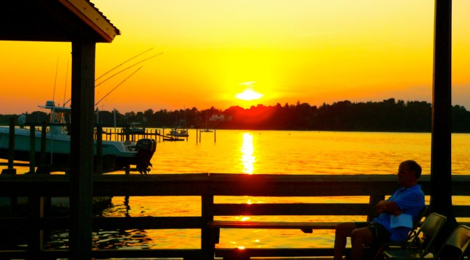 Simple Summer: Sunset Solace on the Dock