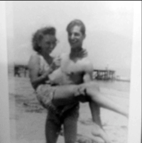 A day at the beach with Fair Haven's Ray and Irene Miller Photo/courtesy of Peggy Miller