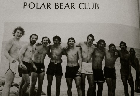 RFH Polar Bear Club after a plunge. Photo/RFH Yearbook screenshot