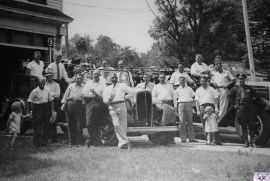 Rumson firemen gather and strike a pose back in the day at the Oceanic Hook & Ladder Co. No. 1 firehouse Photo/Oceanic Hook & Ladder Co. No. 1 Facebook page