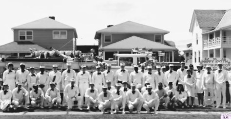 Fair Haven Volunteer Fire Company back when they wore dress whites Photo/FHFD archives