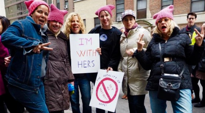 Focus: R-FH Area Women Marching