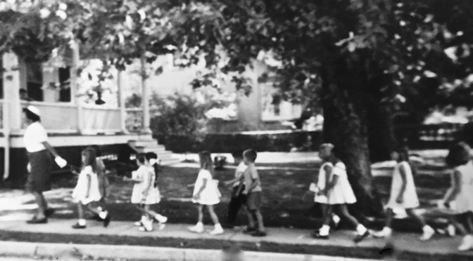 Retro First Day of School: Walking the Rope