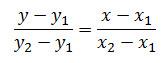 rumus persamaan garis jika diketahui 2 titik