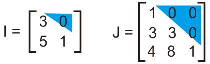 matriks segitiga bawah