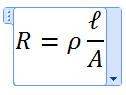 R=ρ l/A