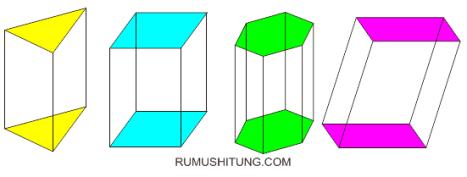 contoh bangun ruang prisma