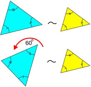 segitiga sebangun dirotasi
