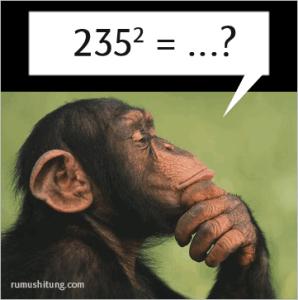 trik mencari kuadarat sebuah bilangan