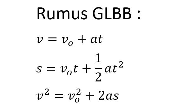 Rumus GLBB (Gerak Lurus Berubah Beraturan)