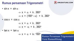 Rumus Persamaan Trigonometri versi RumusHitung