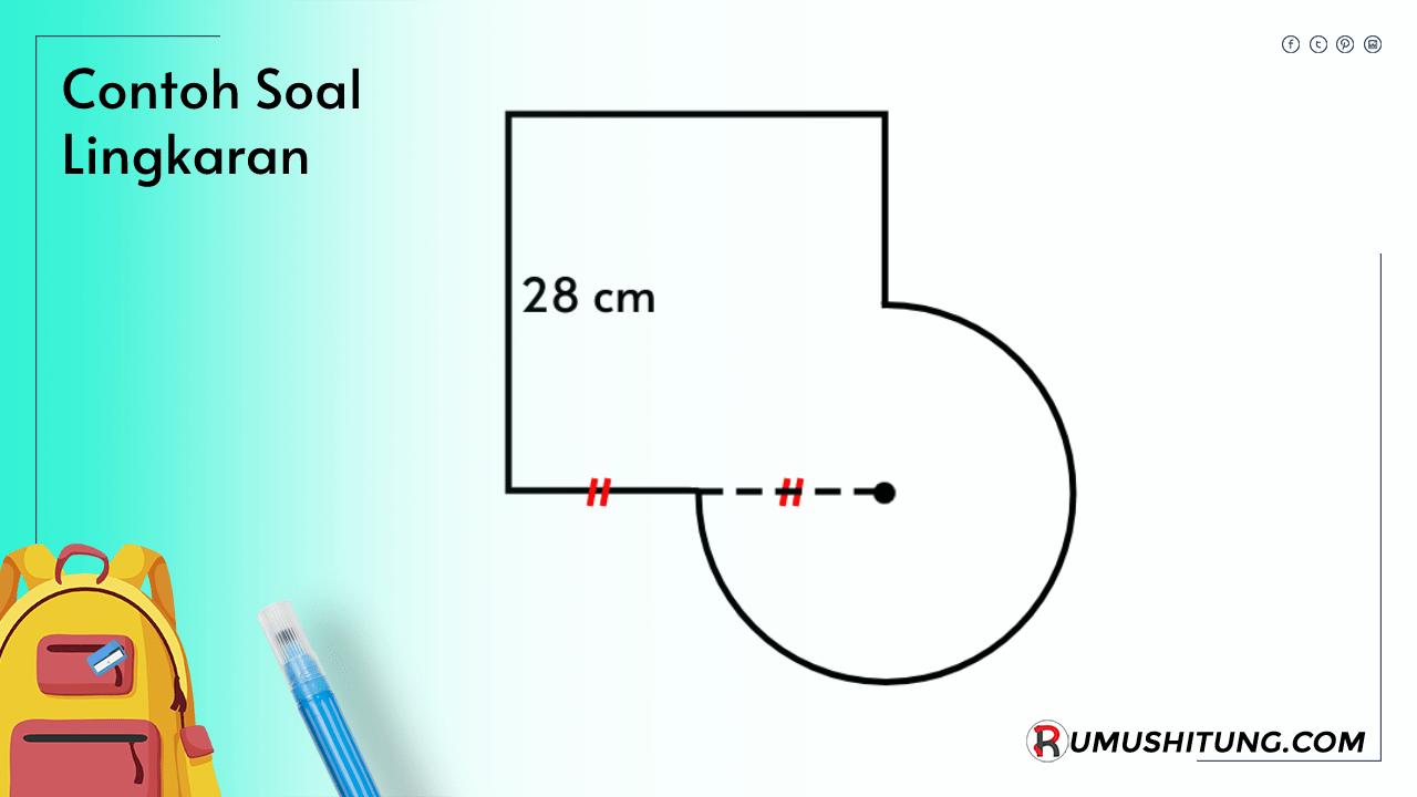 Contoh soal matematika tentang luas, keliling diameter lingkaran