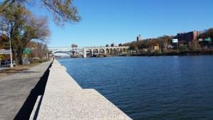Running along the Harlem River