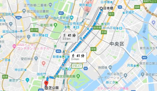 「富久」浅草と日本橋どっちから芝へ向かったの?走る距離はそれぞれ何キロ?
