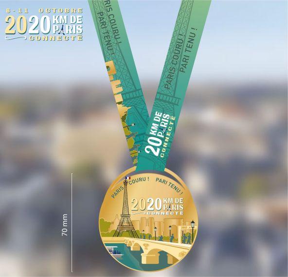 médaille 20 km de paris