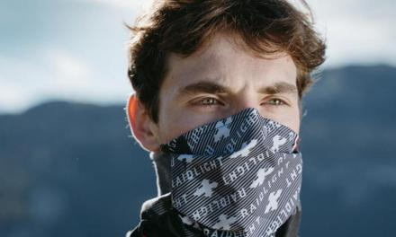 Masque Mountain Raidlight, le masque running deux en un : masque barrière et tour de cou.