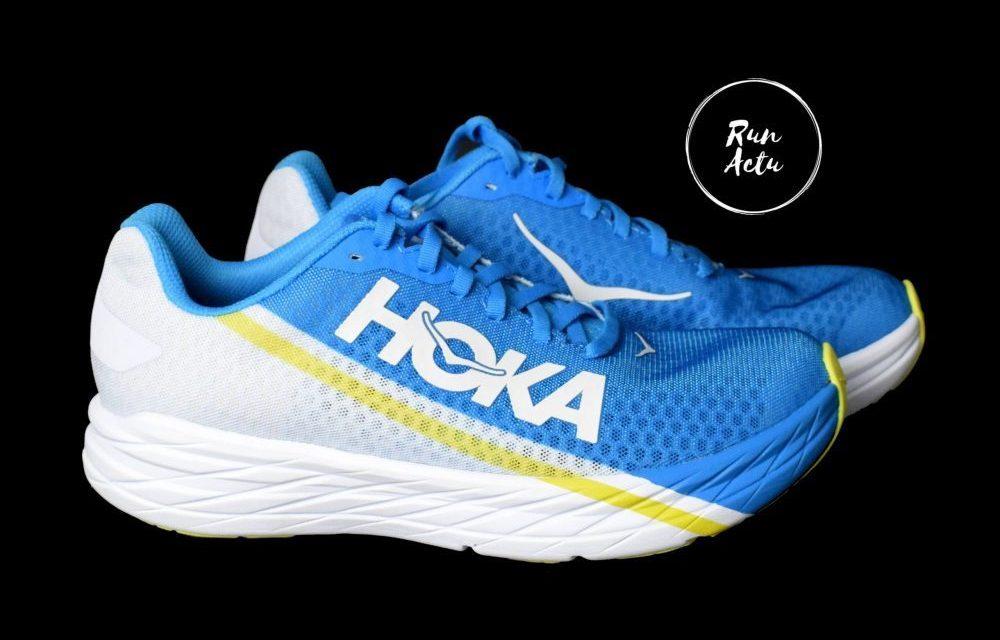 Hoka Rocket X, le test des très performantes chaussures Hoka dotées d'une plaque carbone.
