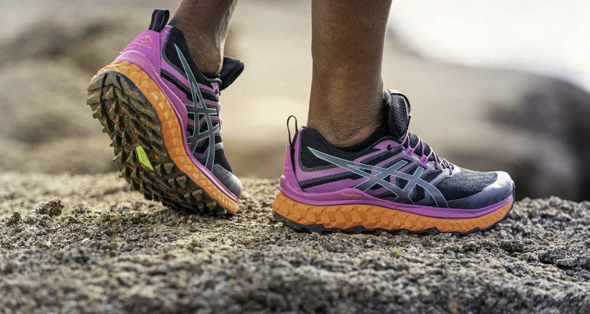 Asics Trabuco Max, notre avis sur les nouvelles chaussures d'ultra trail de chez Asics.