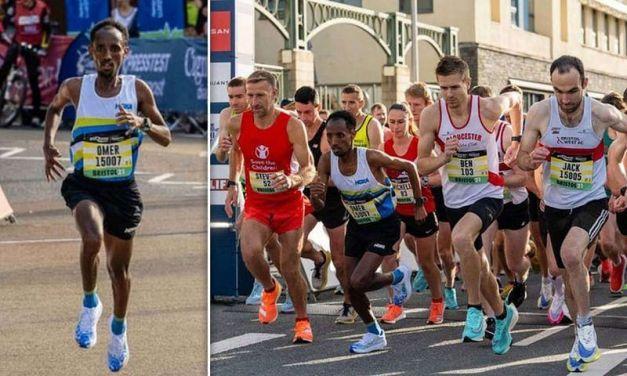 Omar Ahmed, disqualifié après avoir accidentellement gagné le semi-marathon de Bristol.