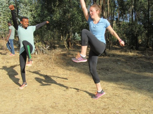 Run Africa Ethiopia visiting runner Stefani from the USA