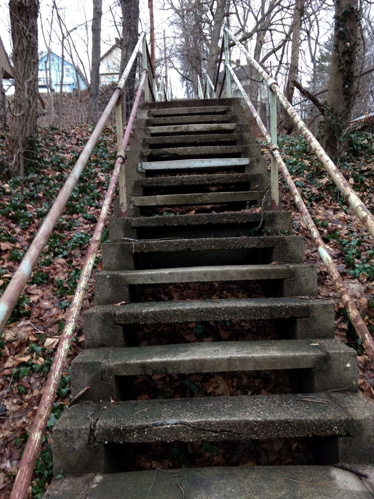 Middle of Antenor Steps, where Tyro Way comes in