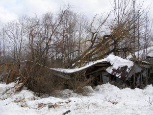old farmhouse demolition
