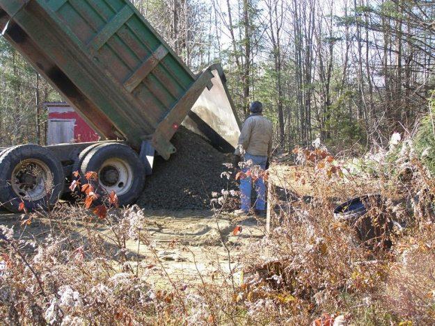 dumping the gravel