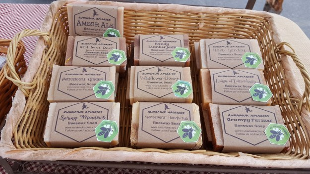 beeswax soap at amrket